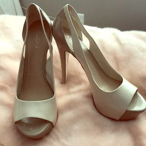 Aldo bone & nude pumps - new/never worn - size 40